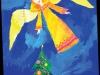 «Рождественский ангел». Соня макарова, 7 лет,  изостудия «Пчелка», г. Рязань