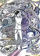 "Илл. к книге Х. Мураками ""Страна чудес без тормозов, или Конец света"" Аня ФАДЕЕВА, 16лет"