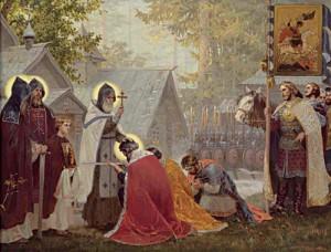 Благословение-князя-Дмитрия-Иоанновича-со-дружиною-на-битву