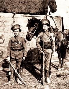 Казаки-добровольцы,  12 и 15 лет