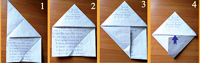 Как сделать конверты-треугольники