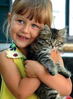 девочка-с-котенком